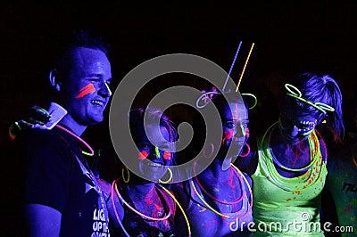 Glow Run Port Elizabeth 2014 South Africa Editorial Photo