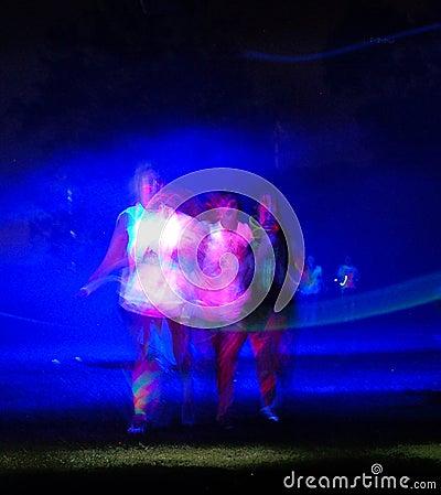 Glow Run Port Elizabeth three ethereal figures Editorial Photo
