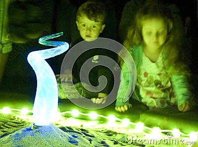 Glow Santa monica, Los Angeles Editorial Photo
