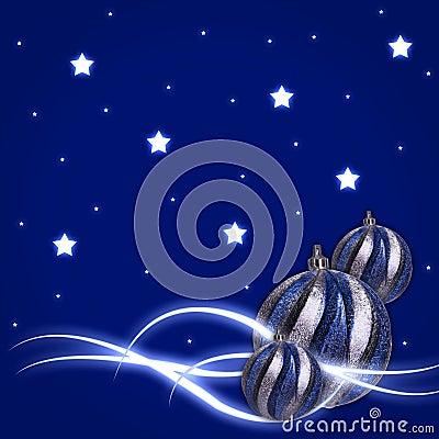 Glow stars Christmas balls
