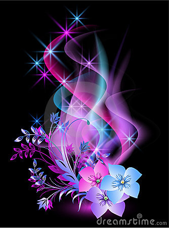 glowing-background-flowers-