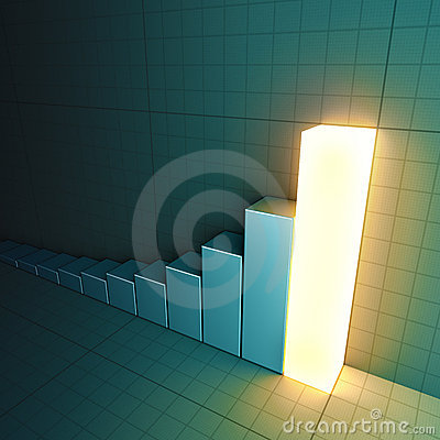 Glowing bar chart