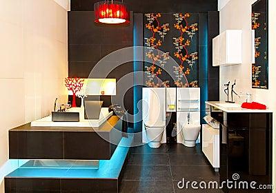 Glowing bathroom