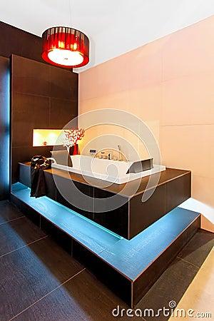 Glowing bathtub