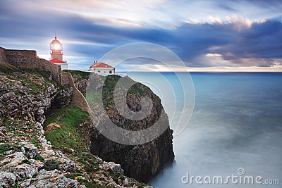 Glowing beacon at Cape Sea.