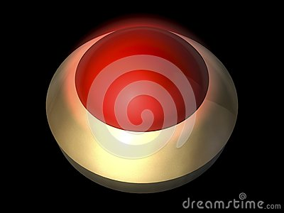 Glowing button