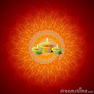 Glowing Diwali Lamps