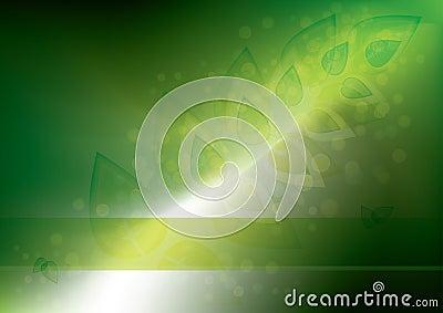 Glowing eco background