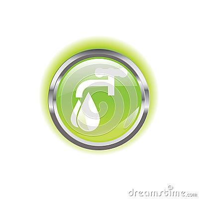 Glowing environmental button