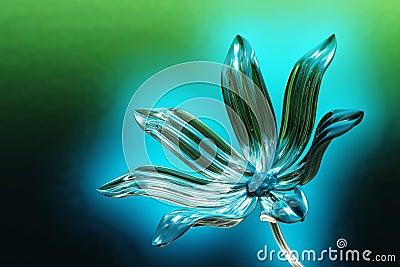 Glowing glass flower