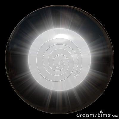 Glowing Glass Sphere