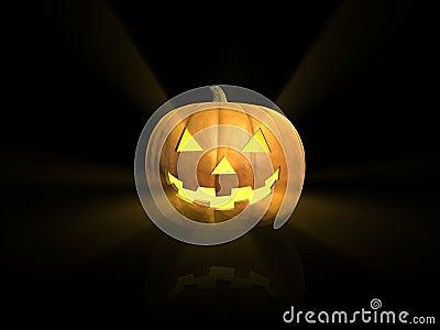 Glowing Halloween lantern