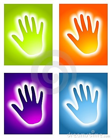 Glowing Handprint Aura Backgrounds