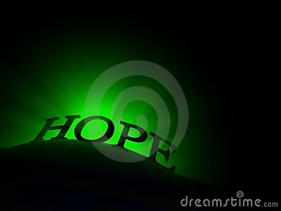 Glowing Hope Text