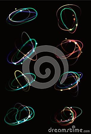Glowing light effect scribbles