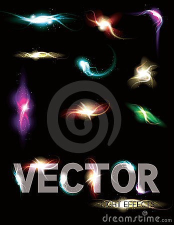 Free Glowing Light Effect Sparkling Element Coll Royalty Free Stock Photography - 19944037
