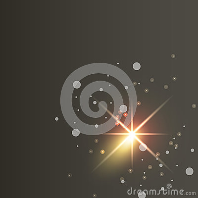 Glowing lights effects on dark background. Glow light effect. Star sky vector Vector Illustration