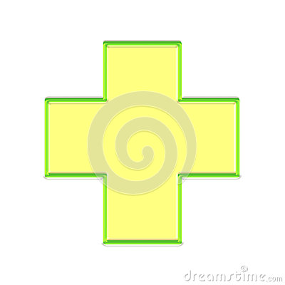 Glowing Medic cross button