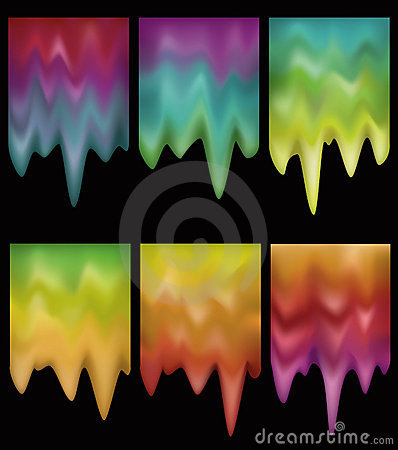 Glowing melting gradient buttons