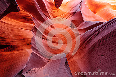 Glowing passage in lower Antelope canyon