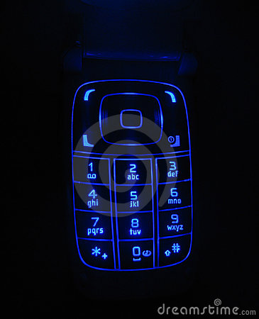 Free Glowing Phone Keypad Royalty Free Stock Images - 436489