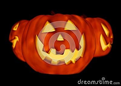 Glowing Pumpkins Trio