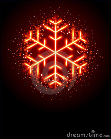 Glowing Snowflake