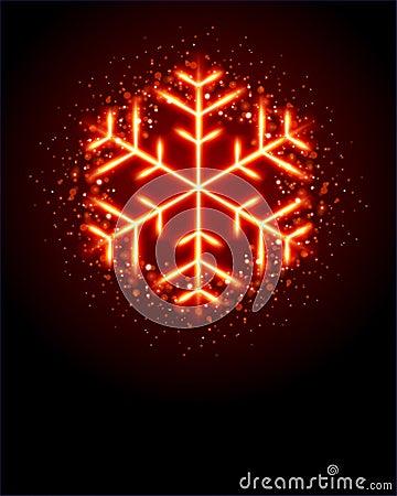 Glowing Snowflake