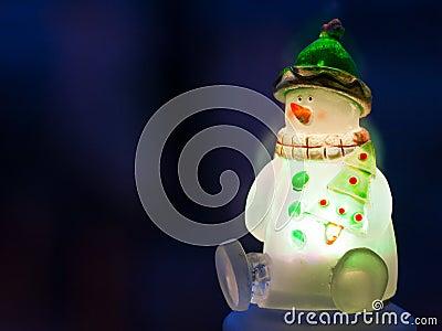 Glowing snowman