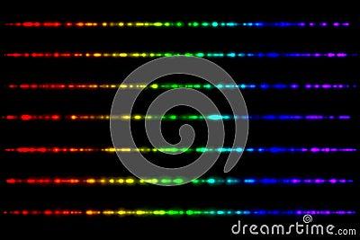 Glowing spectrum rays