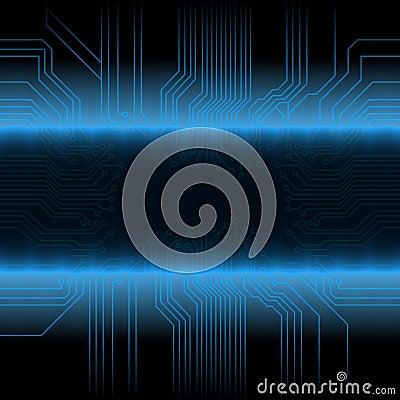 Glowing tech design
