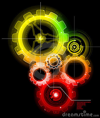 Free Glowing Techno Gears Stock Photo - 17751970
