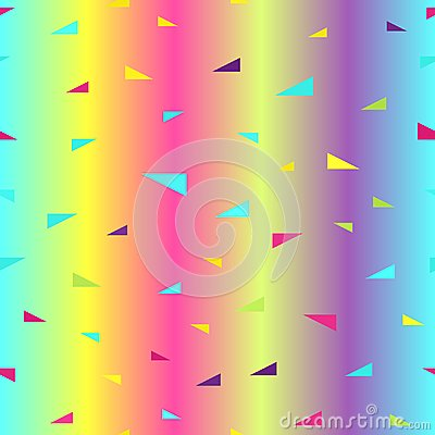 Free Glowing Triangle Pattern. Seamless Vector Royalty Free Stock Photo - 119712035