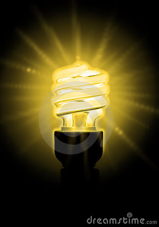 Free Glowing Yellow Light Bulb Stock Photos - 5931683