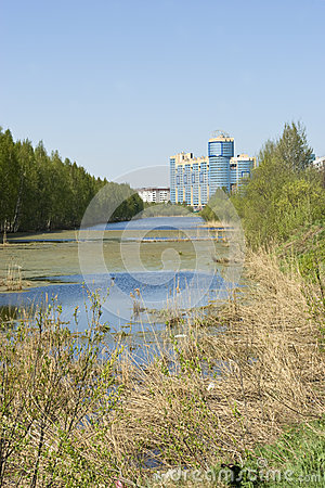 Gluharka river in Saint-Petersburg