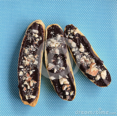 Gluten Free Chocolate Almond Biscotti Stock Photo - Image: 46977094