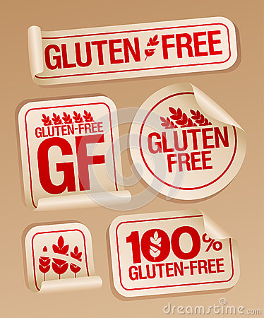 Gluten free food stickers.