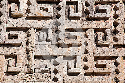 Glyph in archaeological site of Mitla, Mexico