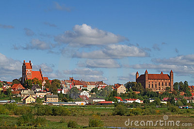 Gniew old town