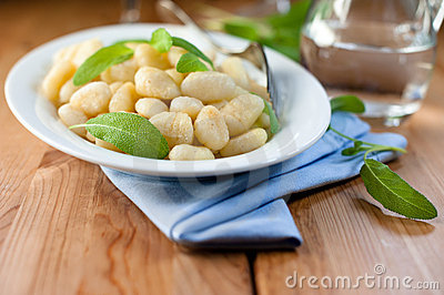 Gnocchi with fresh sage