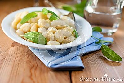 Gnocchi with fresh sage