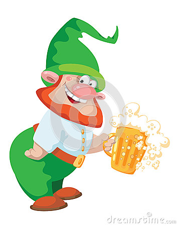 Gnome and beer