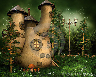 Gnome house in the forest