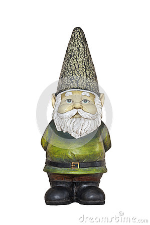 Free Gnome Standing With Green Shirt And White Beard Stock Photography - 80188562