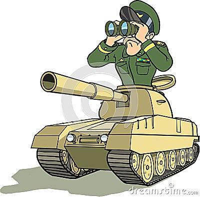 Général dans le battletank