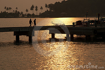 Go Back home during Sunset in Thailand