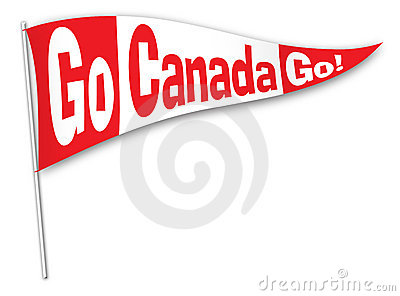Go Canada Go! Pennant Stock Photos - Image: 13126743