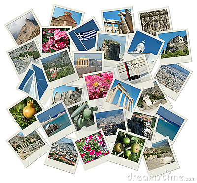 Go Greece - background with travel photos
