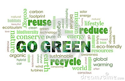 Go Green eco friendly concept