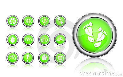 Go green eco icon set